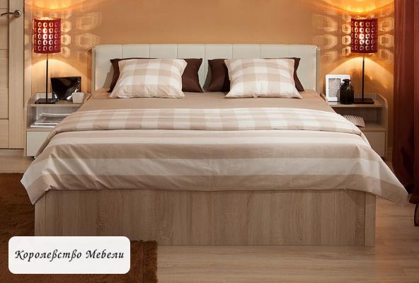 Кровать BERLIN,без основания (дуб сонома )