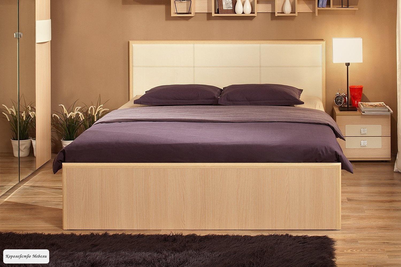 Кровать Амели Люкс, без основания (дуб отбеленный)