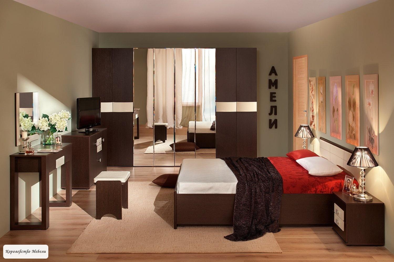 Кровать Амели, без основания (венге)