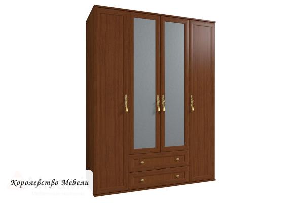 Милана 1 Шкаф для одежды и белья орех
