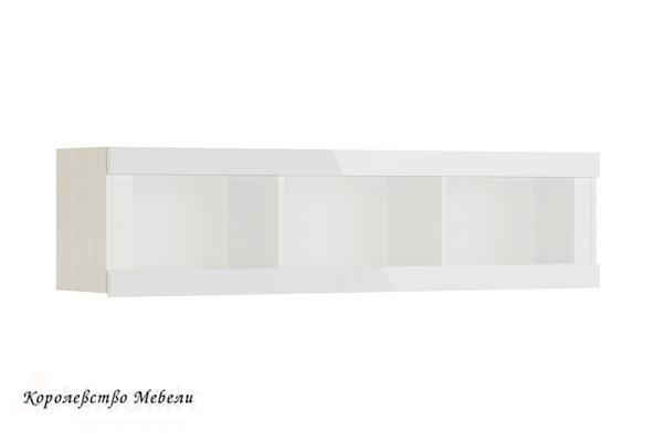 Белла 13 шкаф навесной (рамух белый)