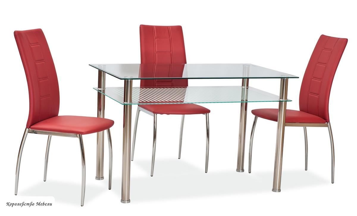 Стол  стеклянный PIXEL (120*70)