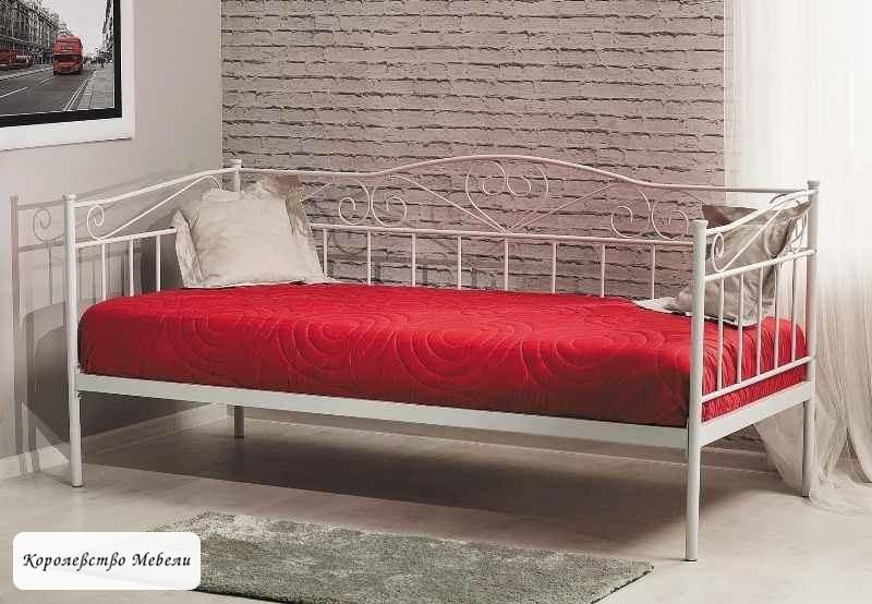 Кровать Birma (90*200) белая,с основанием