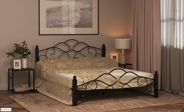 Кровать Garda-3 (черный),с основанием