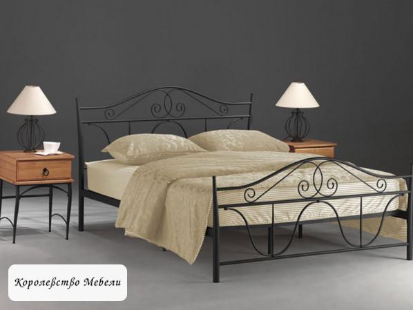 Кровать DENVER (160*200) черная, с основанием