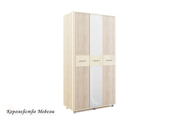 Оливия 13 шкаф 3-дверный Дуб сонома/ваниль