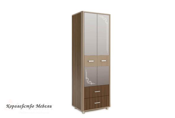 Оливия 12 шкаф 2-дверный Дезира тёмный/мокко