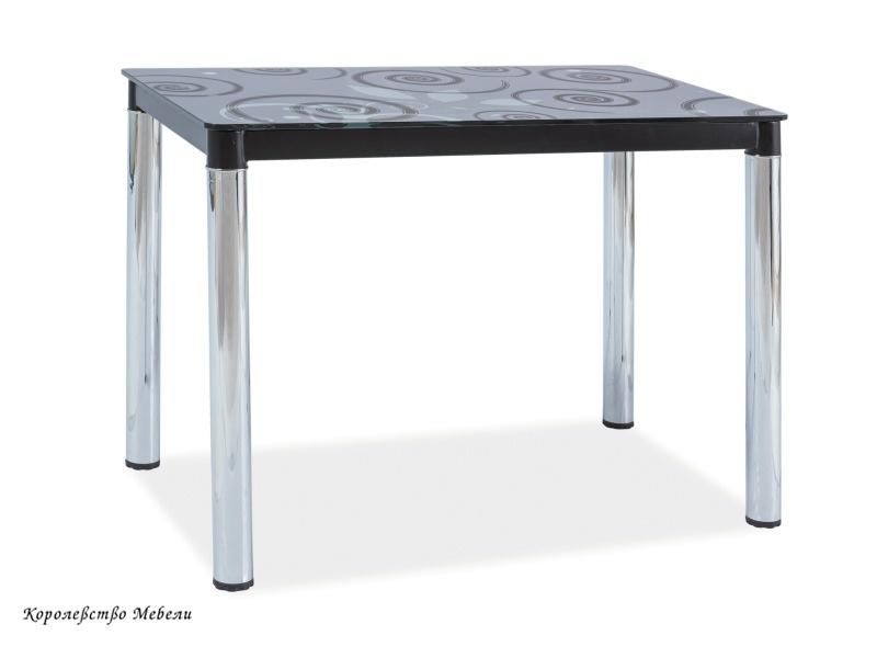 Стол стеклянный DAMAR 2 (100*60), черный / хром