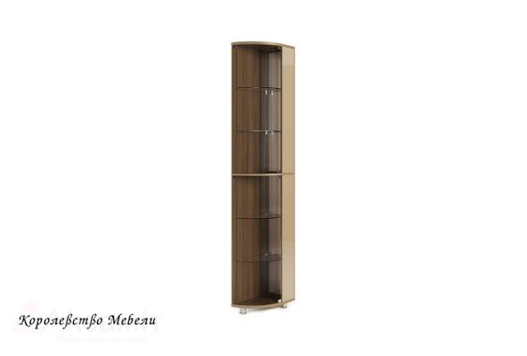 Оливия 9 стеллаж-витрина Дезира тёмный/мокко