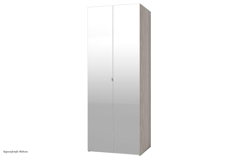 BAUHAUS 8 Шкаф для одежды (фасад-зеркало+зеркало)
