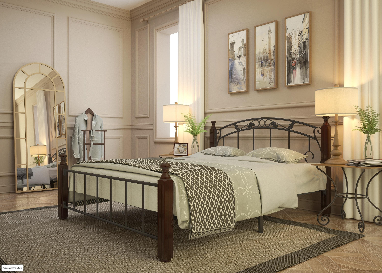 Кровать Garda-5 (черный), с основанием