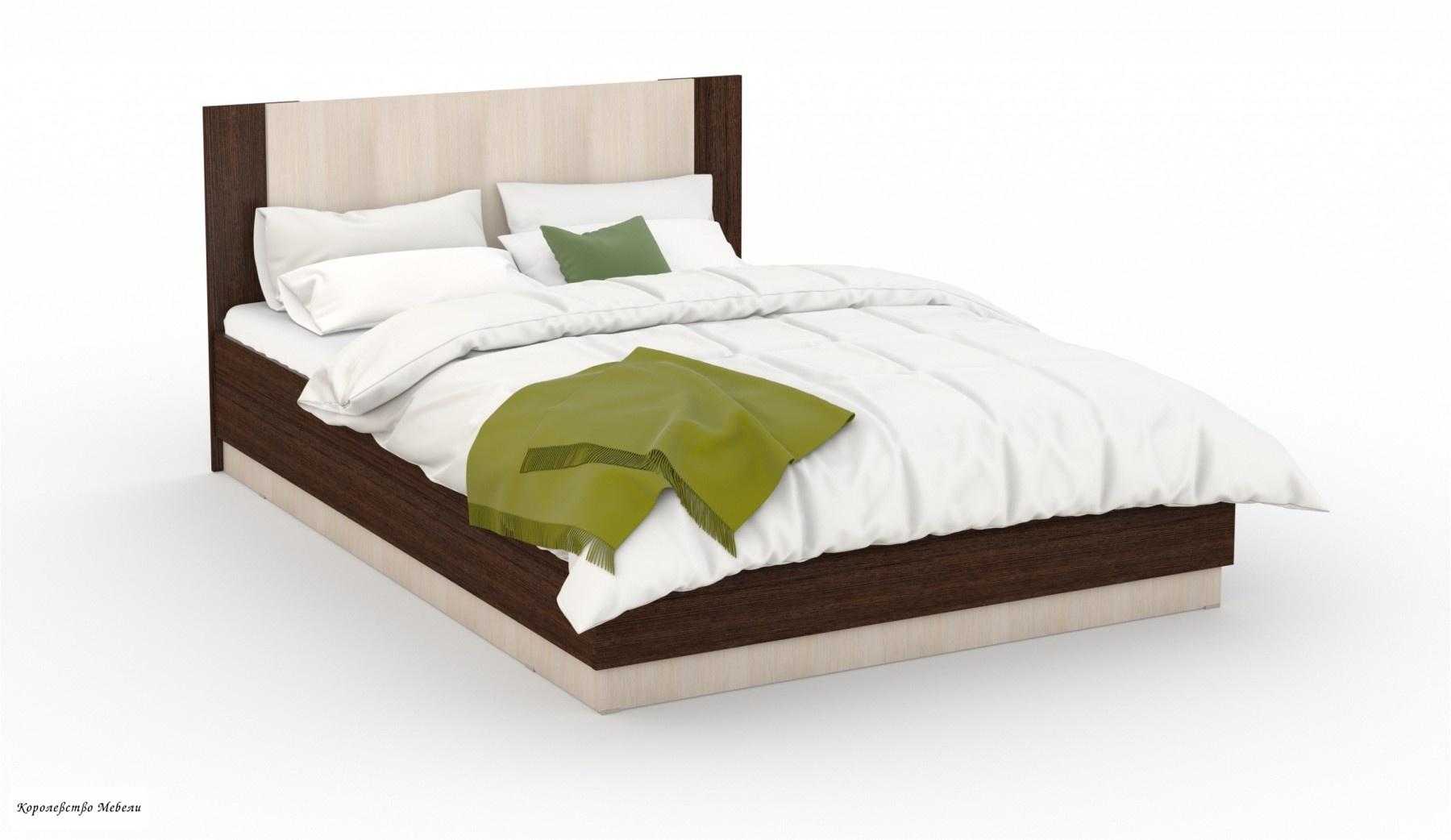 Кровать Аврора (160*200) с подъемн. мех. (венге /дуб молочный)