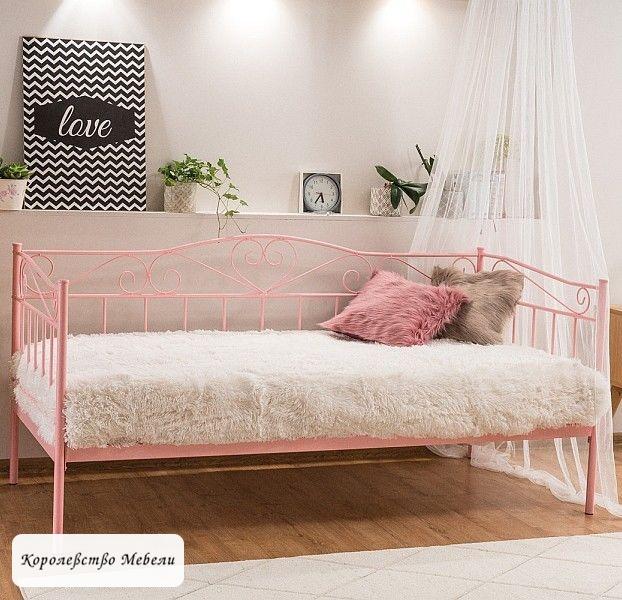 Кровать Birma (90*200) розовая,с основанием