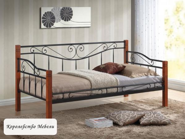 Кровать Kenia (90*200) античная черешня, с основанием
