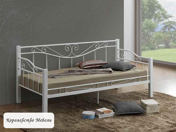 Кровать Kenia (90*200) белая, с основанием