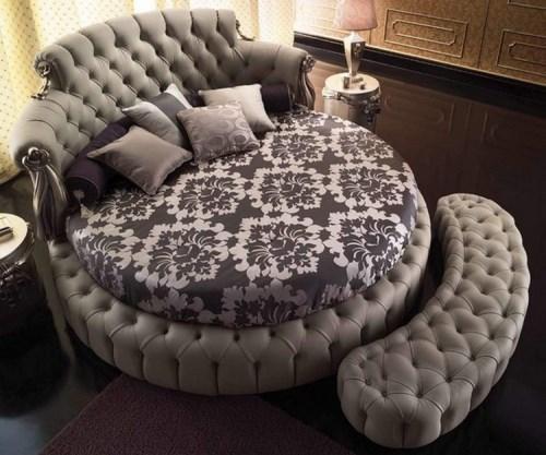Круглая кровать Фелиция-2.