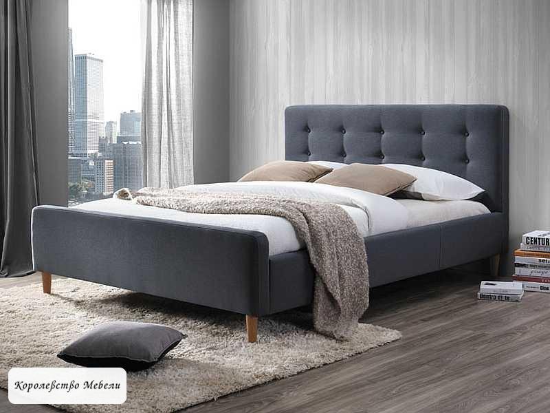 Кровать PINKO (серая) (160*200), с основанием