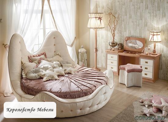 Круглая кровать Квин.