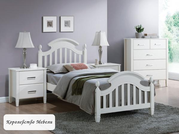 Кровать LIZBONA (90*200) , белая,с основанием