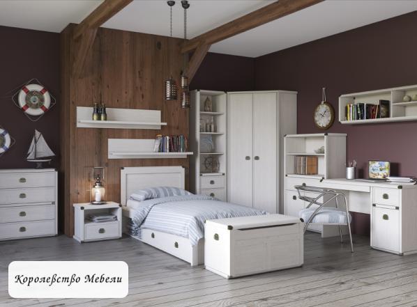Кровать Магеллан (90*200) с ящиком (сосна винтаж)