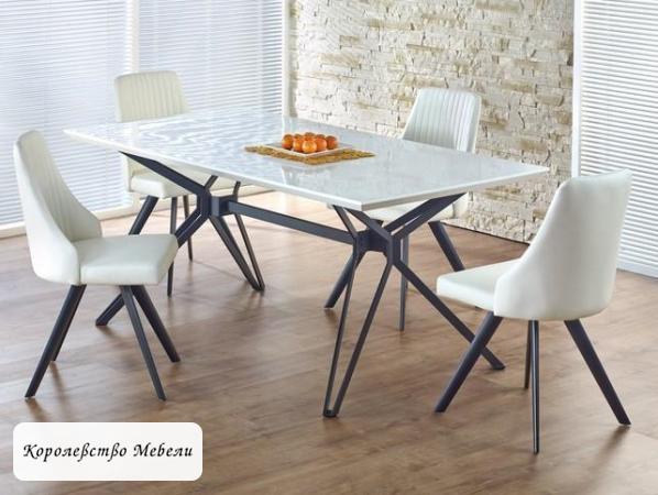 Стол PASCAL (160) (бело-черный)