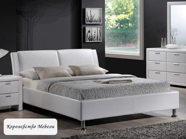 Кровать Mito  белая ,с основанием