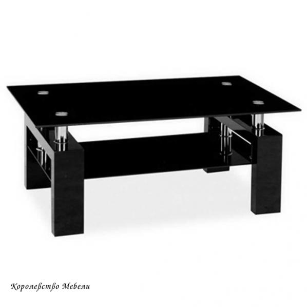Журнальный столик LISA ll (черный, белый лак)