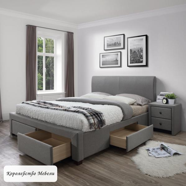 Кровать  MODENA  (серая), с ящиками