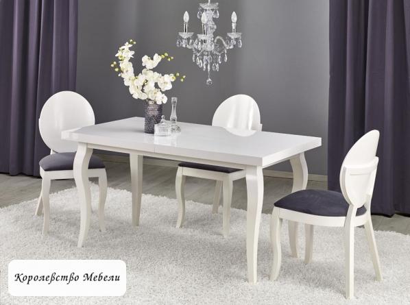 Стол раздвижной MOZART (140--180) (белый)