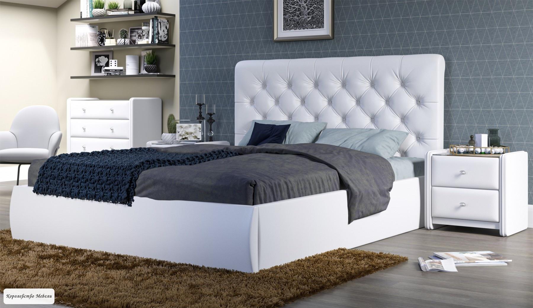 Кровать Беатриче (Tеos white), с подъемным механизмом