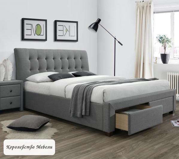 Кровать двуспальная PERCY (160*200) c ящиками