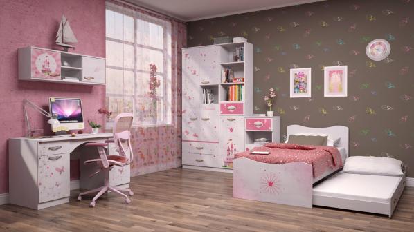 Кровать Принцесса 04 (90*190) с ящиком