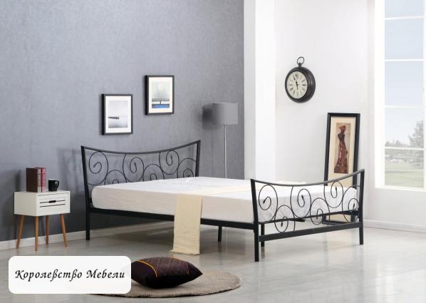 Кровать Ramona (160*200) черная, с основанием
