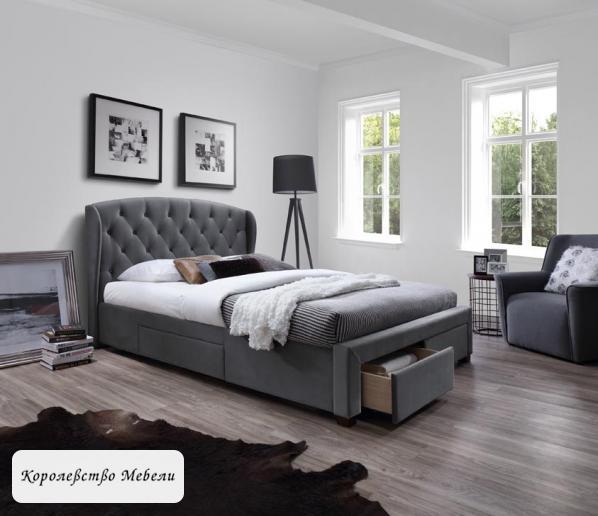 Кровать двуспальная Sabrina (160*200) с ящиками