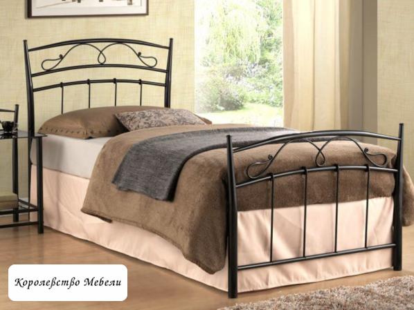 Кровать SIENA (90*200) черная, с основанием