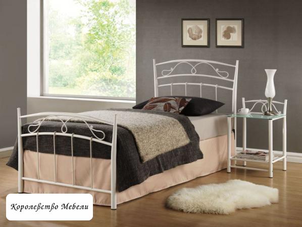 Кровать SIENA (90*200) белая, с основанием
