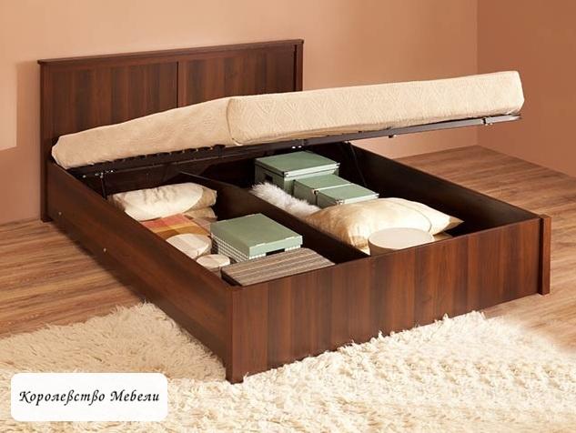 Кровать Sherlock, с подъёмным механизмом (орех шоколадный)