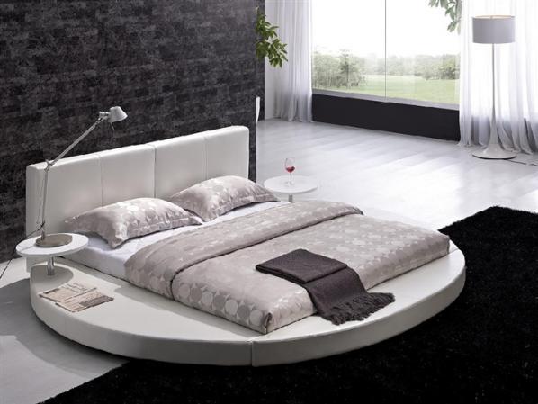 Круглая подиумная кровать Квадро.